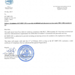 KT Ship LTD SRPS LETTER